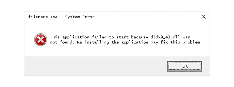 Windows d3dx9_43.dll Missing Error